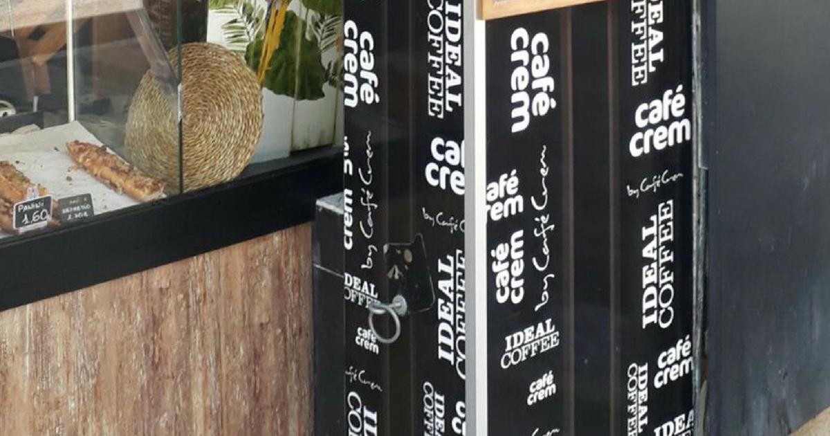 Rotulación de una nueva cafetería Café Crem