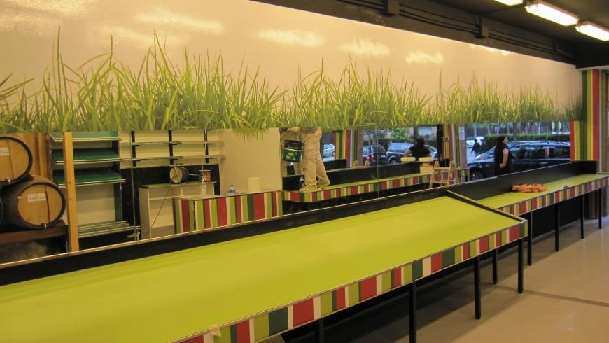 Vinilo gran formato bufete restaurant