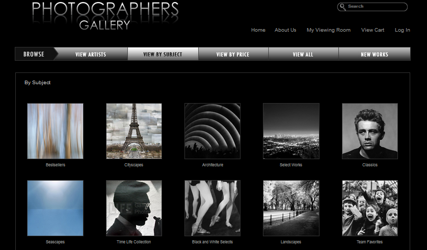 photographers gallery web