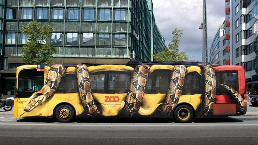 Anuncio vehiculo para Zoo Copenhague