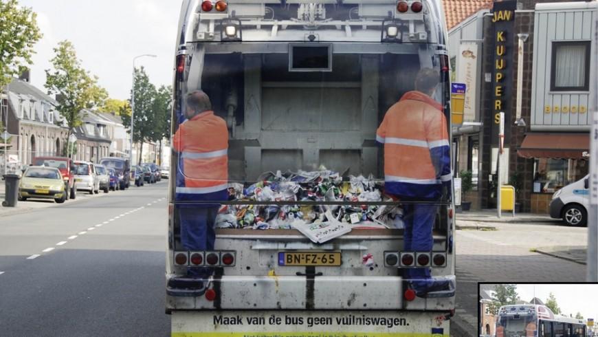 Campaña de concienciacion en autobus