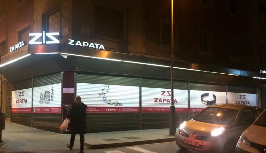 Rotulación exterior de Zapata Joyeros_Grafiks