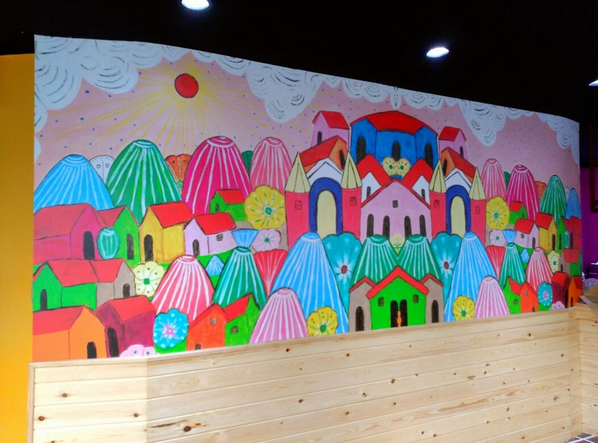 Mural entero casas