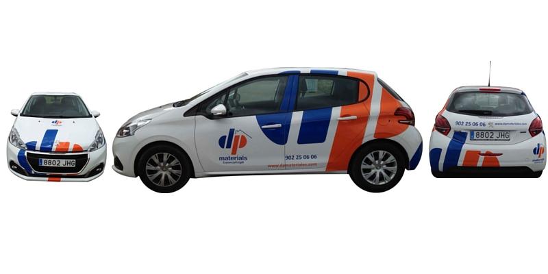 Rotulación de vehículos de empresa Distriplac_Grafiks