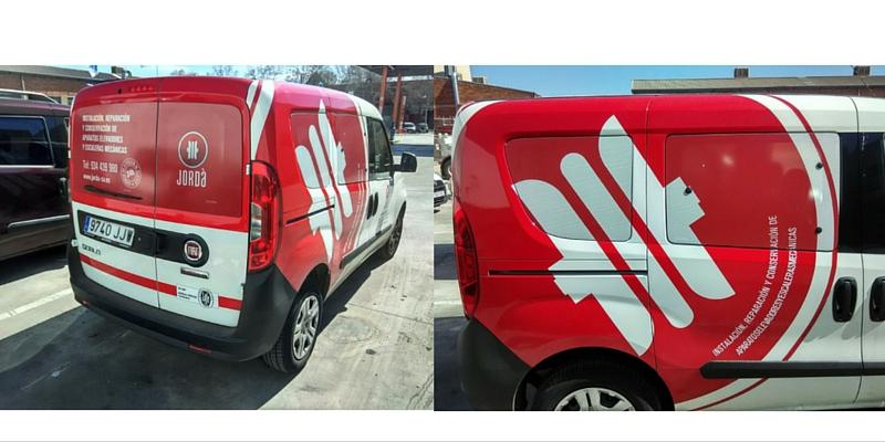 Rotulación vehículos empresa Ascensores Jordà_Grafiks