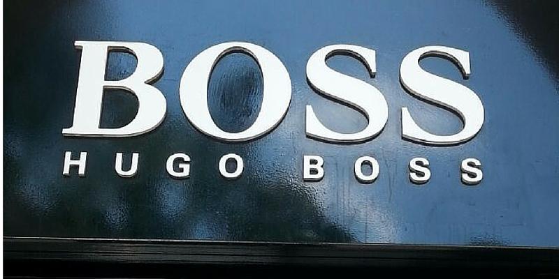 12 letras corpóreas para 12 empresas_Hugo Boss