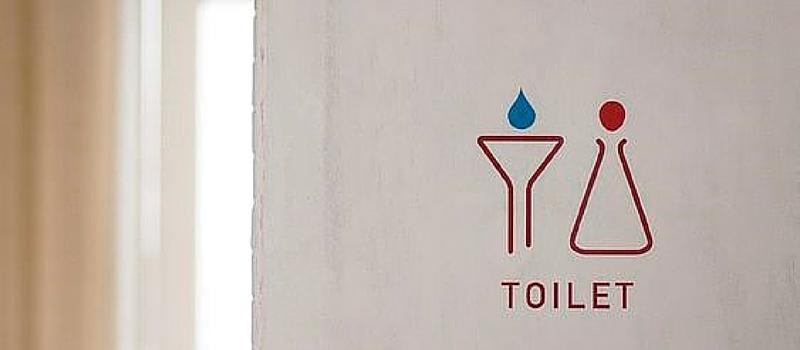 Más de 50 ideas de rotulación para la señalización de cuartos de baño