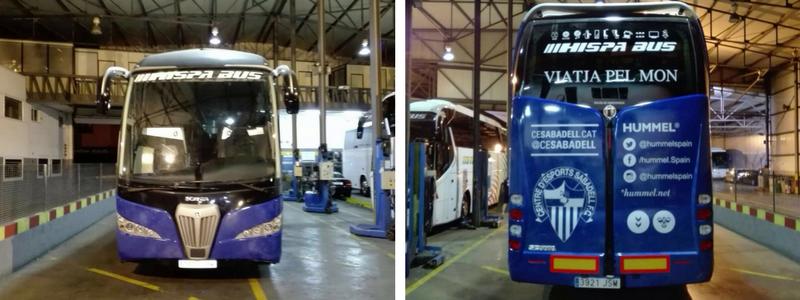 Rotulación autocar Hispa Bus