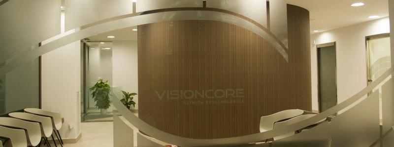 Proyecto de rotulación integral de la Clínica Oftalmológica Visioncore de Barcelona