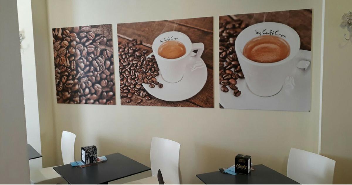 Rotulación de una nueva cafetería Café Crem del Grupo Costa Brava
