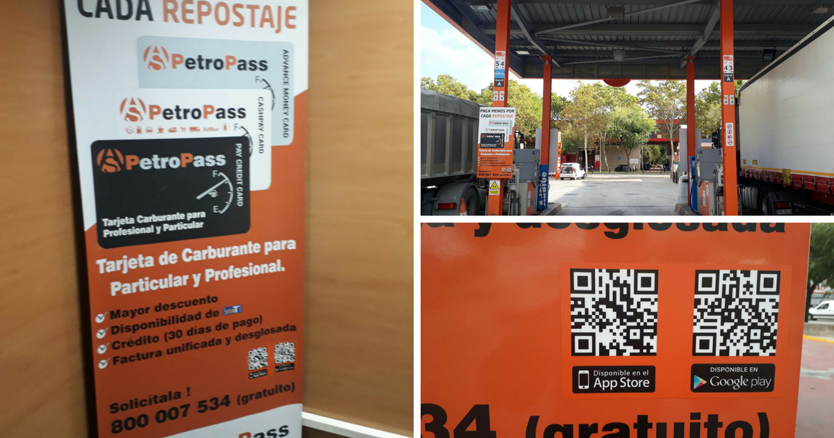 Rotulación para la gasolinera de PetroPass en Cornellà de Llobregat