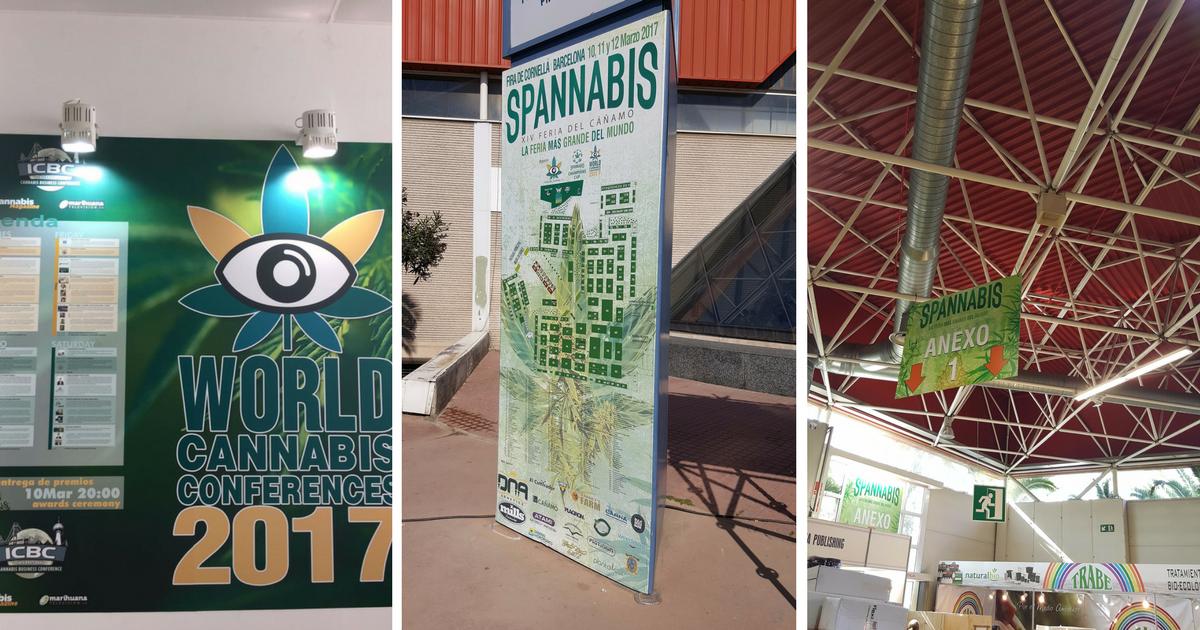 Rotulación de la Feria Spannabis, la feria del cannabis más grande del mundo