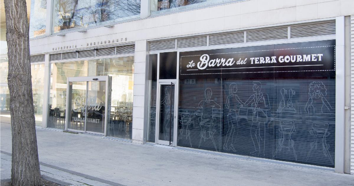 Rotulación de 3 estrellas para el restaurante La Barra del Terra Gourmet