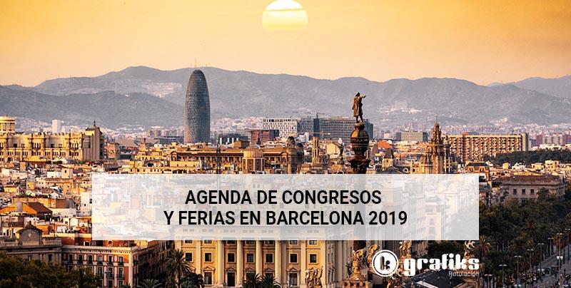 Agenda de congresos y ferias en Barcelona 2019