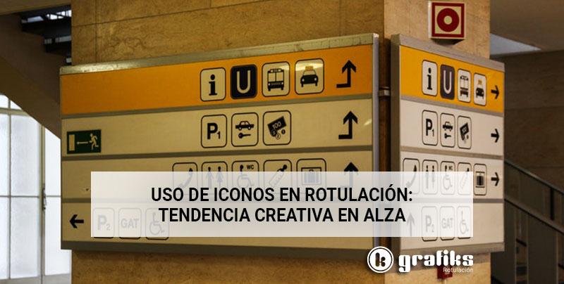 tendencias en rotulación: uso de iconos de forma creativa