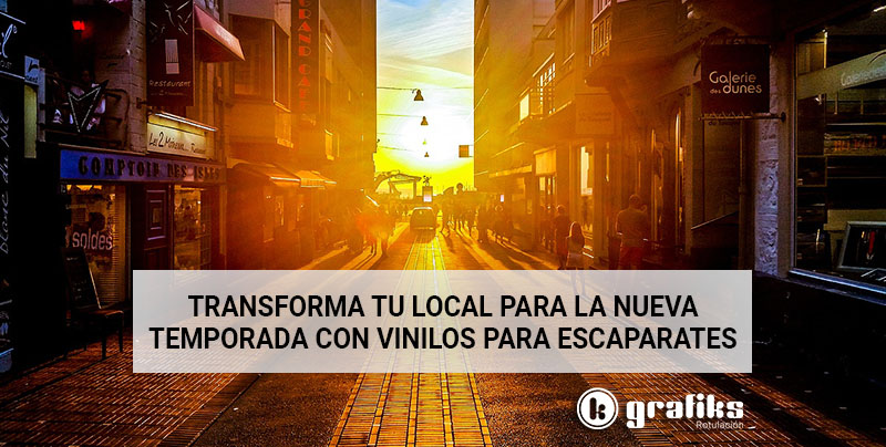 Transforma tu local con vinilos para escaparates