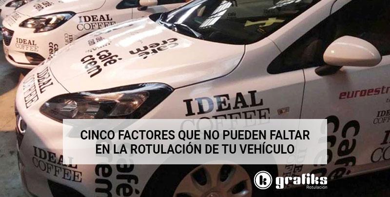 Cinco factores que no pueden faltar en la rotulación de vehículos de empresa