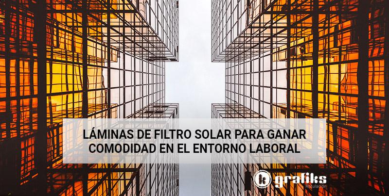 instalación de láminas de filtro solar
