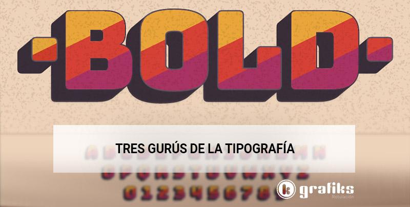 tres gurús tipografía