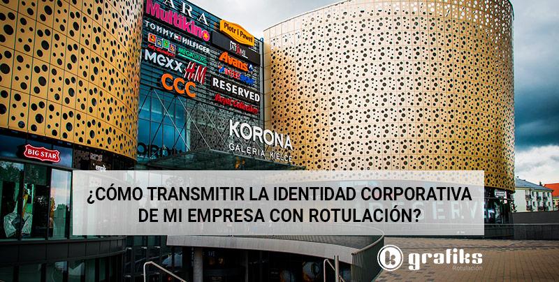 identidad corporativa empresa rotulación
