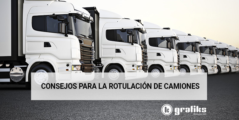 Rotulación flota de camiones para tu empresa