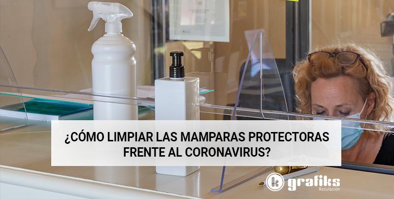 Limpiar mamparas coronavirus