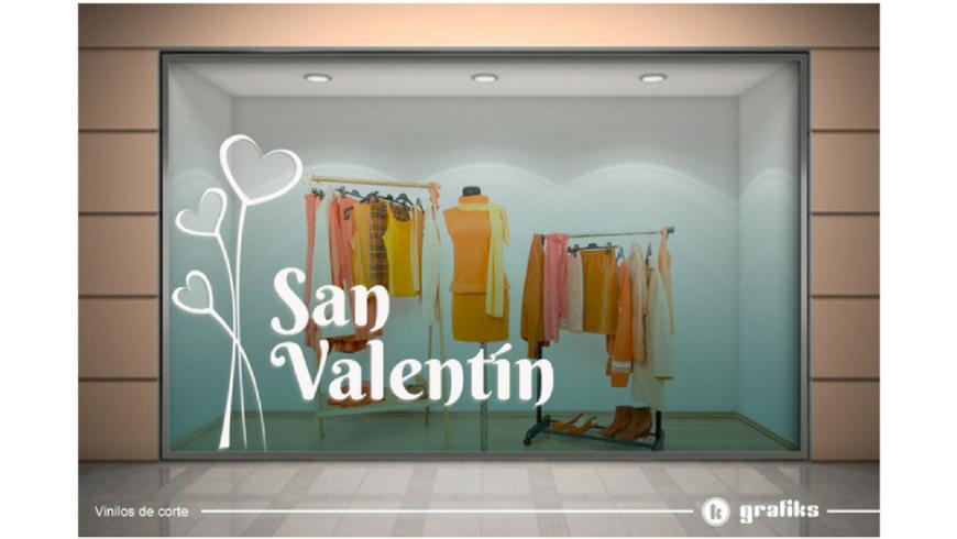 Rotulación de comercios para San Valentín