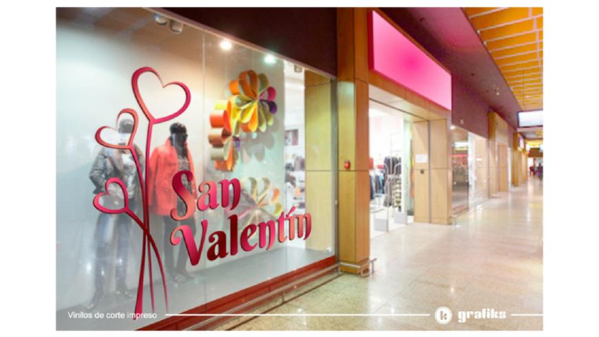 San Valentín: rotulación con vinilos